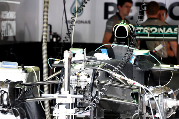 Mercedes AMG F1 W05 technical detail. Formula One World Championship, Rd6, Monaco Grand Prix, Preparations, Monte-Carlo, Monaco, Wednesday 21 May 2014.