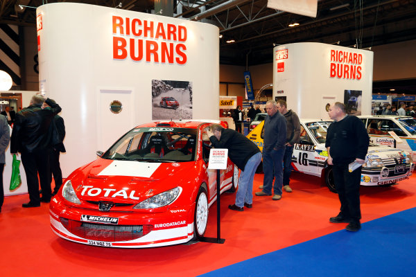 Autosport International Show NEC, Birmingham.  Thursday 10th January 2013. Rally cars driven by Richard Burns on display at the MotorSport News stand, including Peugeot 206 WRC. World Copyright:Andrew Ferraro/LAT Photographic ref: Digital Image _79P2917