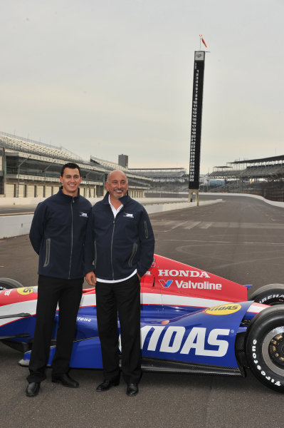 Novemeber 14, 2012, Indianapolis Motoer Speedway, Speedway, Indiana, USA Graham and Bobby Rahal at presentation of Graham as RLLR new driver for 2013.(c)2012 Dan R. Boyd LAT photo USA