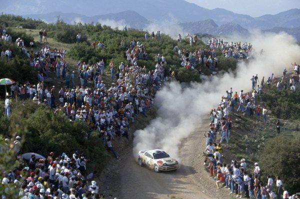 1992 World Rally Championship.Acropolis Rally, Greece. 31 May-3 June 1992.Armin Schwarz/Arne Hertz (Toyota Celica Turbo 4WD), retired.World Copyright: LAT PhotographicRef: 35mm transparency 92RALLY14