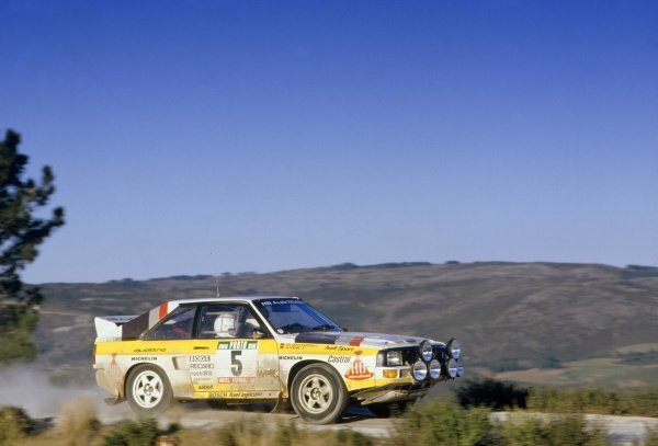 1985 World Rally Championship.Portuguese Rally, Portugal. 6-9 March 1985.Walter Rohrl/Christian Geistdorfer (Audi Sport Quattro), 3rd position.World Copyright: LAT PhotographicRef: 35mm transparency 85RALLY23