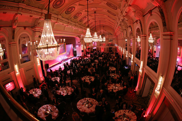 2015 British Racing Drivers Club Awards Grand Connaught Rooms, London Monday 7th December 2015 The guests at dinner. World Copyright: Jakob Ebrey/LAT Photographic ref: Digital Image Awards-08