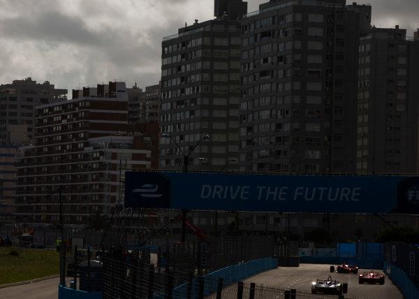 2015/2016 FIA Formula E Championship. Punta del Este ePrix, Punta del Este, Uruguay. Saturday 19 December 2015. Jerome D'Ambrosio (FRA) Dragon Racing - Venturi VM200-FE-01 and Loic Duval (FRA), Dragon Racing - Venturi VM200-FE-01. Photo: Zak Mauger/LAT/Formula E ref: Digital Image _L0U8717