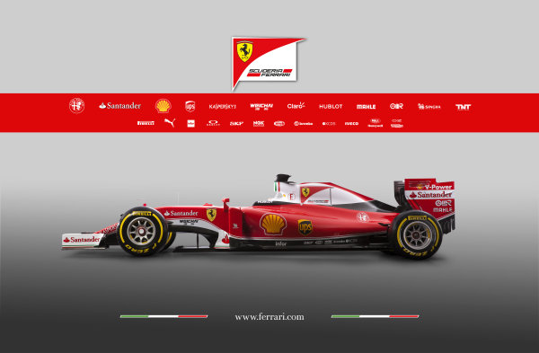 Ferrari SF16-H Reveal. Friday 19 February 2016. The Ferrari SF16-H. Photo: Ferrari (Copyright Free FOR EDITORIAL USE ONLY) ref: Digital Image 160006_new-SF16-h_SV_2016_profilo