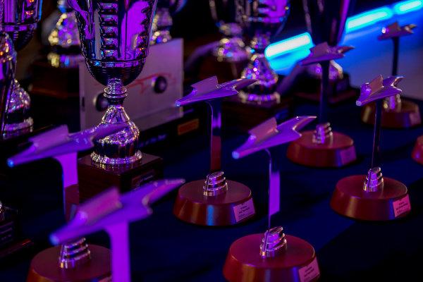 2017 Awards Evening. Yas Marina Circuit, Abu Dhabi, United Arab Emirates. Sunday 26 November 2017. Trophies. Photo: Zak Mauger/FIA Formula 2/GP3 Series. ref: Digital Image _X0W0152