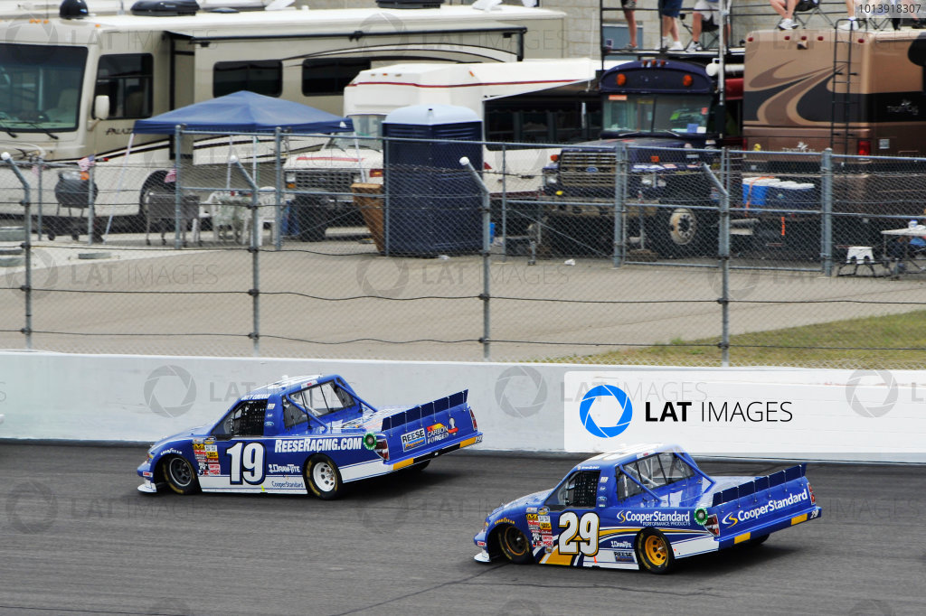 13-14 April, 2013, Rockingham, North Carolina USA Joey Logano, Ryan Blaney ©2013, Scott R LePage LAT Photo USA