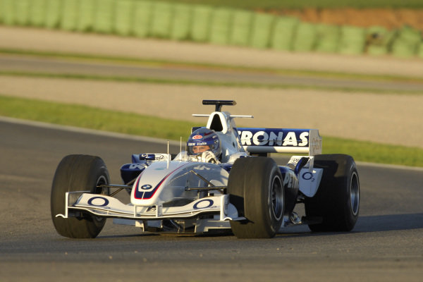 WTCC driver Alessandro Zanardi (ITA) drives a specially converted BMW Sauber F1 car around Valencia.