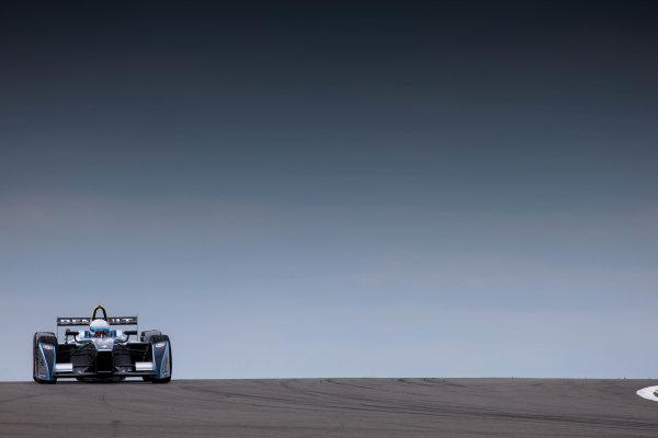 FIA Formula E Test Day, Donington Park, UK.  3rd - 4th July 2014.  Christian Danner. Photo: Malcolm Griffiths/FIA Formula E ref: Digital Image F80P7416