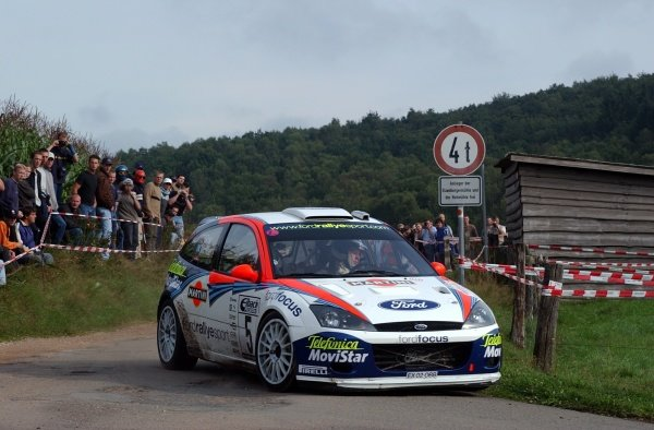 Colin McRae (GBR), Ford Focus RS WRC, on Stage 18, finished the rally fourth overall.Fia World Rally Championship, Rd10, Rallye Deutschland, Germany, Leg 3, 25 August 2002.DIGITAL IMAGE