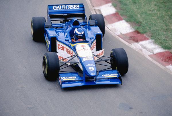 1996 Argentinian Grand Prix.Buenos Aires, Argentina. 5-7 April 1996.Olivier Panis (Ligier JS43 Mugen Honda) 8th position.Ref-96 ARG 29.World Copyright - LAT Photographic
