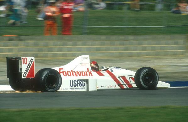 1990 British Grand Prix.Silverstone, England.13-15 July 1990.Alex Caffi (Arrows A11B Ford) 7th position.Ref-90 GB 03.World Copyright - LAT Photographic
