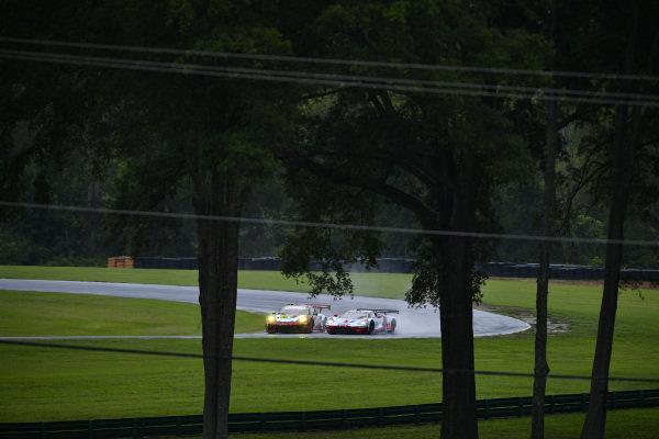 #9 PFAFF Motorsports Porsche 911 GT3 R, GTD: Scott Hargrove, Zacharie Robichon, #67 Ford Chip Ganassi Racing Ford GT, GTLM: Ryan Briscoe, Richard Westbrook