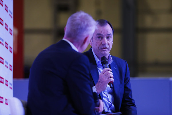Alan Gow talks to Alan Gow on the Autosport Stage.