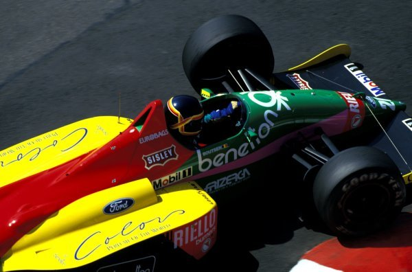 Thierry Boutsen (BEL) Benetton Ford B187.Formula One World Championship, Rd4, Monaco Grand Prix, Monte-Carlo, Monaco. 31 May 1987.