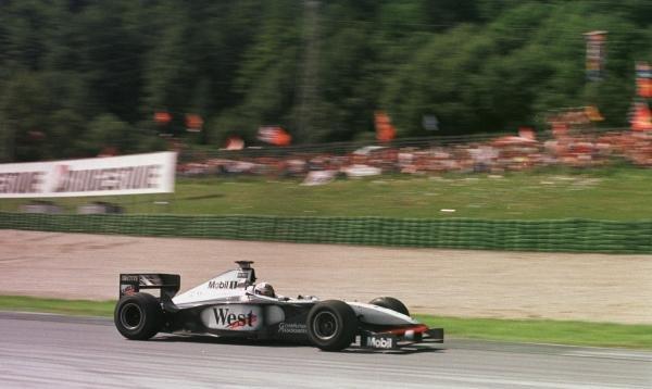 1998 Austrian Grand Prix.A1-Ring, Zeltweg, Austria.24-26 July 1998.David Coulthard (McLaren MP4/13 Mercedes-Benz) 2nd position.World Copyright - LAT Photographic