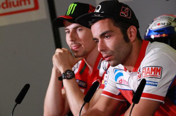 Jorge Lorenzo, Ducati Team, Danilo Petrucci, Pramac Racing.
