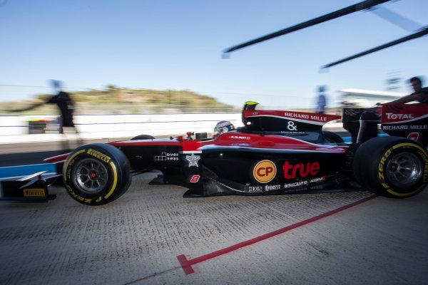 2017 FIA Formula 2 Round 10. Circuito de Jerez, Jerez, Spain. Friday 6 October 2017. Alexander Albon (THA, ART Grand Prix).  Photo: Andrew Ferraro/FIA Formula 2. ref: Digital Image _FER0515