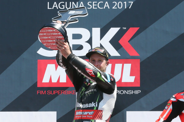 2017 Superbike World Championship - Round 8 Laguna Seca, USA. Sunday 9 July 2017 Winner Jonathan Rea, Kawasaki Racing World Copyright: Gold and Goose/LAT Images ref: Digital Image 683460