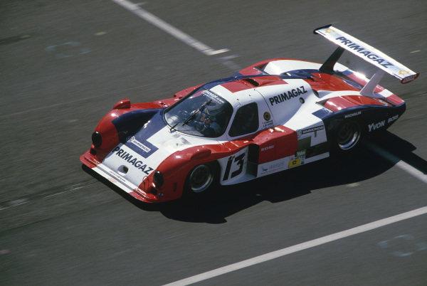 Le Mans, France. 15th -16th  June 1985.Yves Courage/Alain de Cadenet/Jean-Franois Yvon (Cougar C12 Porsche), 20th position, action. World Copyright: LAT Photographic.Ref:  85LM32