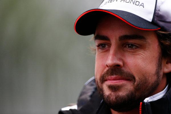 Sochi Autodrom, Sochi, Russia. Friday 29 April 2016. Fernando Alonso, McLaren. World Copyright: Andy Hone/LAT Photographic ref: Digital Image _ONY7555