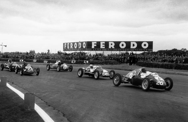 Silverstone, Great Britain. 19 July 1952Stirling Moss (Kieft - Norton 500), 1st position in the 500cc race, action.World Copyright - LAT Photographic.Ref: 4647A - 6.