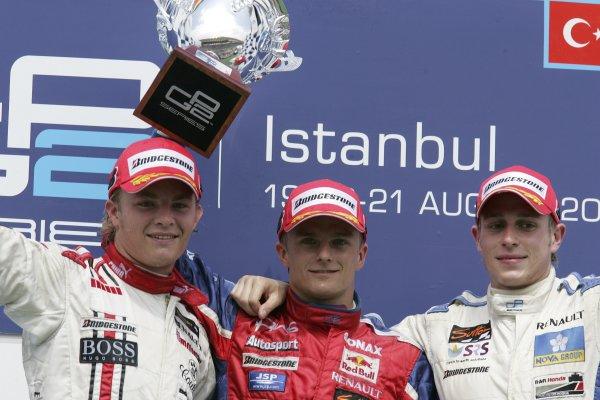 2005 GP2 Series - TurkeyIstanbul Park, IstanbulSunday Race 2Winner Heikki Kovalainen ( fin, Arden) 2nd Adam Carroll (GB, Super Nova International). 3rd Nico Rosberg (D, ART Grand Prix). Copyright: GP2 Series Media Service ref: Digital Image Only