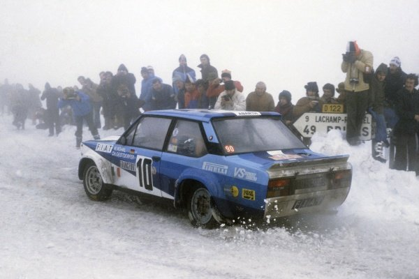 1980 World Rally Championship.Monte Carlo Rally, Monaco. 19-25 January 1980.Walter Rohrl/Christian Geistdorfer (Fiat 131 Abarth), 1st position.World Copyright: LAT PhotographicRef: 35mm transparency 80RALLY01
