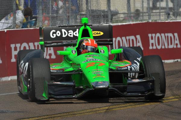 22-24 March, 2013, St Petersburg, Florida USA.#27 James Hinchcliffe GoDaddy com Andretti Autosports Chevrolet ©2013, Dan R.  LAT Photo USA