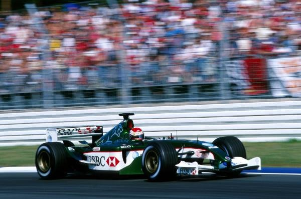 Justin Wilson (GBR) Jaguar R4, on his first outing with Jaguar, was an unfortunate victim of the first lap accident, eventually retiring on lap seven with a transmission failure. 