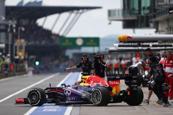 Sebastian Vettel (GER) Red Bull Racing RB9. Formula One World Championship, Rd9, German Grand Prix, Practice, Nurburgring, Germany, Friday 5 July 2013.
