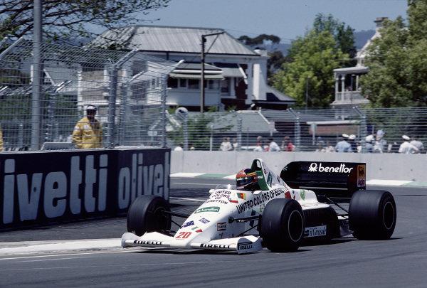 1985 Australian Grand Prix.Adelaide, Australia.1-3 November 1985.Piercarlo Ghinzani (Toleman TG185 Hart).Ref-85 AUS 69.World Copyright - LAT Photographic