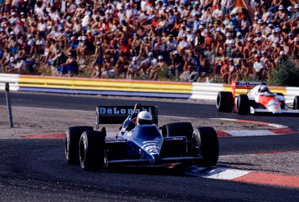 1985 French Grand Prix.Paul Ricard, Le Castellet, France.5-7 July 1985.Martin Brundle (Tyrrell 014 Renault).Ref-85 FRA 30.World Copyright - LAT Photographic