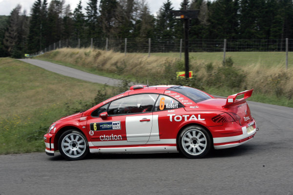 2004 FIA World Rally Champs. Round ten, OMV Deutschland Rally.19th - 22nd August 2004.Cedric Robert, Peugeot, action.World Copyright: McKlein/LAT