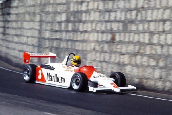 Ayrton Senna (BRA) Theodore Racing. International Formula Three, Macau Grand Prix, Macau, 20 November 1983.