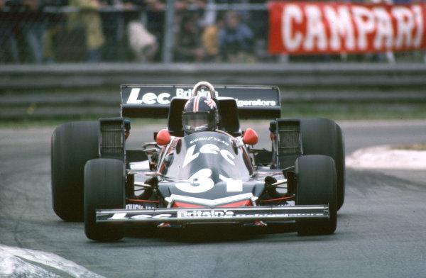 1977 Belgian Grand Prix.Zolder, Belgium.3-5 June 1977.David Purley (LEC CRP1 Ford) 13th position.World Copyright - LAT Photographic