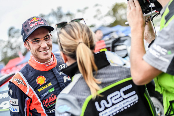Thierry Neuville (BEL), Hyundai Motorsport WRC at World Rally Championship, Rd13, Rally Australia, Day Three, Coffs Harbour, New South Wales, Australia, 19 November 2017.