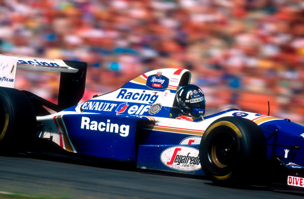 1994 German Grand Prix.Hockenheim, Germany.29-31 July 1994.Damon Hill (Williams FW16B Renault) 8th position.Ref-94 GER 28.World Copyright - LAT Photographic