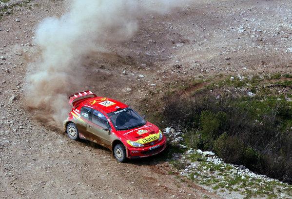 2003 FIA World Rally Championship. Kemer, Turkey. Rd3.26/2-2/3 2003.Gilles Panizzi/Herve Panizzi (Peugeot 206 WRC) 5th position.World Copyright: McKlein/LAT Photographic