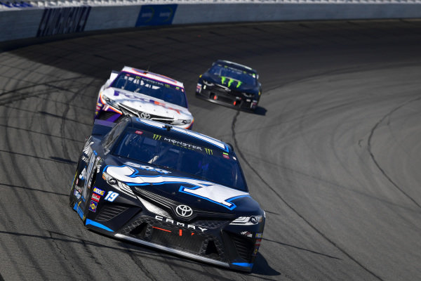 #19: Martin Truex Jr., Joe Gibbs Racing, Toyota Camry Auto-Owners Insurance/Martin Truex Jr. 500th Start, #11: Denny Hamlin, Joe Gibbs Racing, Toyota Camry FedEx Office, #1: Kurt Busch, Chip Ganassi Racing, Chevrolet Camaro Monster Energy