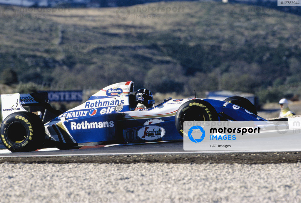 1994 Portuguese Grand Prix.Estoril, Portugal. 23-25 September 1994.Damon Hill (Williams FW16B Renault) 1st position.Ref-94 POR 15.World Copyright - LAT Photographic