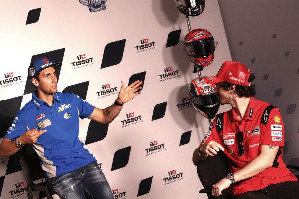 Alex Rins, Team Suzuki MotoGP Francesco Bagnaia, Ducati Team.