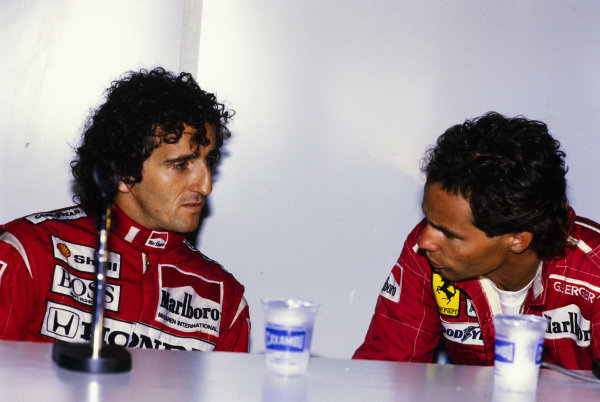 Alain Prost and Gerhard Berger.