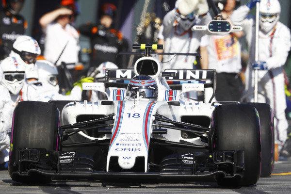 Lance Stroll (CDN) Williams FW40 at Formula One World Championship, Rd1, Australian Grand Prix, Race, Albert Park, Melbourne, Australia, Sunday 26 March 2017.
