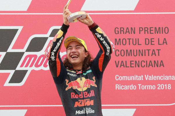 Podium: race winner Can Oncu, Red Bull KTM Ajo.