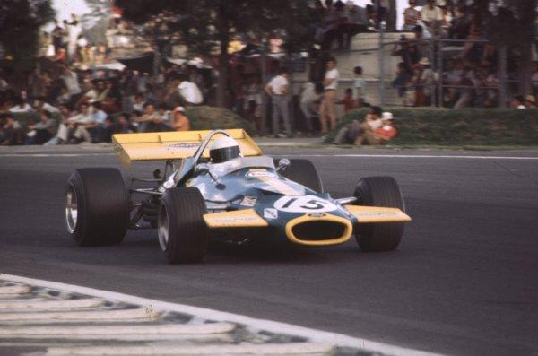 1970 Mexican Grand Prix.Mexico City, Mexico.23-25 October 1970.Jack Brabham (Brabham BT33 Ford).Ref-70 MEX 63.World Copyright - LAT Photographic