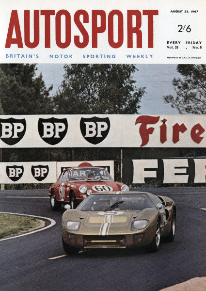Cover of Autosport magazine, 25th August 1967