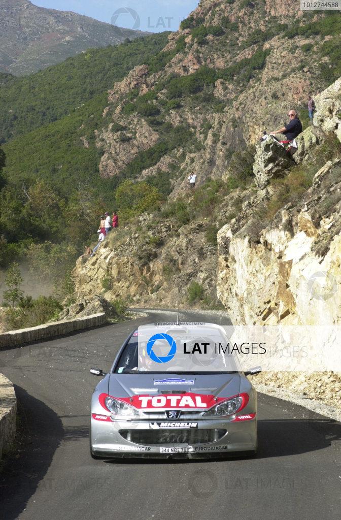 2001 World Rally Championship.Rallye de France, Ajaccio, Corsica, October 19-21.Marcus Gronholm on stage 5.Photo: Ralph Hardwick/LAT