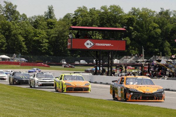 #18: Daniel Hemric, Joe Gibbs Racing, Toyota Supra Poppy Bank and #19: Brandon Jones, Joe Gibbs Racing, Toyota Supra Menards/Swiffer