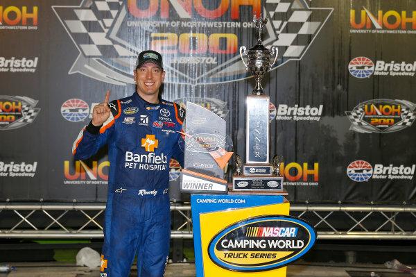 NASCAR Camping World Truck Series UNOH 200 Bristol Motor Speedway, Bristol, TN USA Thursday 17 August 2017 Kyle Busch, Banfield Pet Hospital Toyota Tundra, celebrates in victory lane. World Copyright: Russell LaBountyLAT Images