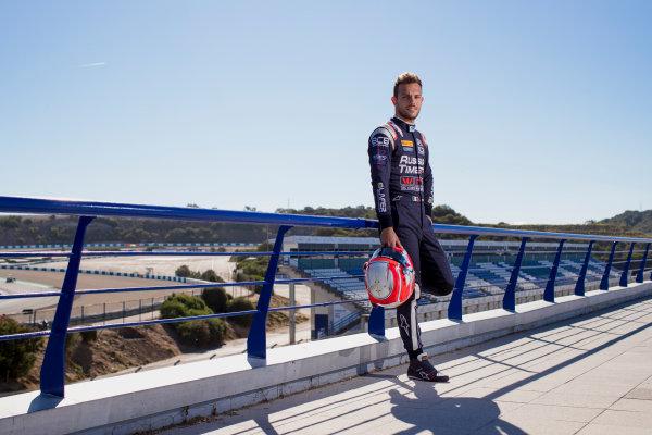 2017 FIA Formula 2 Round 10. Circuito de Jerez, Jerez, Spain. Thursday 5 October 2017. Luca Ghiotto (ITA, RUSSIAN TIME).  Photo: Zak Mauger/FIA Formula 2. ref: Digital Image _56I3872